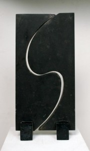 Interlocking forms, c.1970. Limestone. Private Collection.