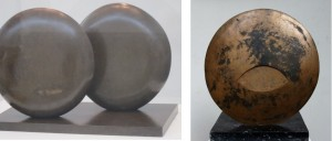 Left, Hepworth's 'Discs in Echelon; Right, Frömel's Disc (verso).