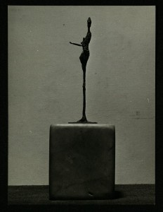 Little Figure, c.1964. Bronze on marble base. Image from family archive.