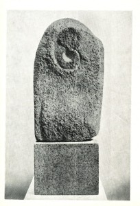 Moon and Anti Moon, 1966, one of Frömel's first completed carved works in stone.