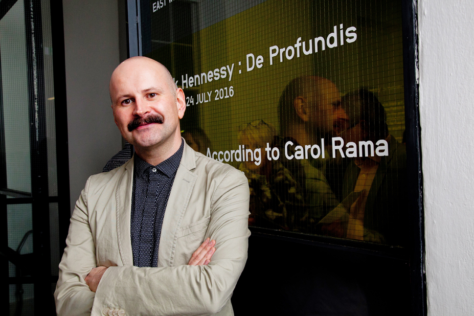 Sean Kissane, Curator of Patrick Hennessy: De Profundis, IMMA Photo by Paul Sherwood