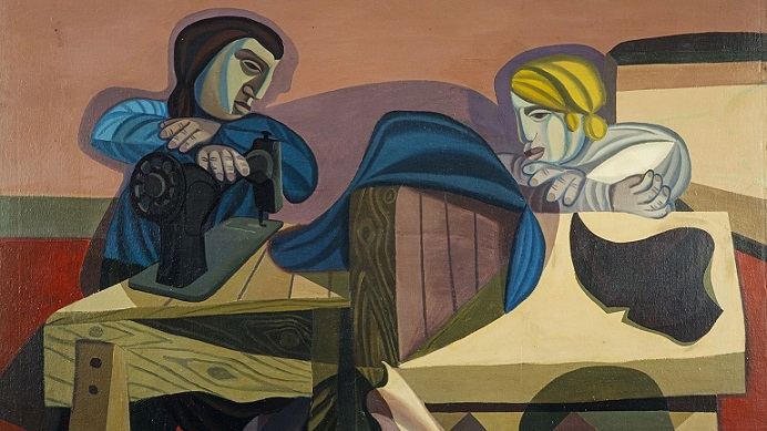 Robert MacBryde Two women sewing, 1948 Scottish National Gallery of Modern Art
