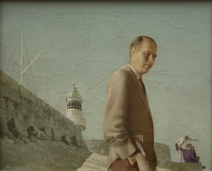 Harry Robertson Craig RHA. on Dun Laoghaire Pier, 1953 private collection