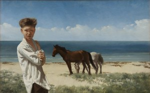 Boy with Horses on the Seashore, c. 1965 private collection